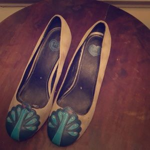 Vintage ModCloth t.u.k. Peacock heels